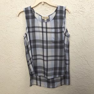 Anthropologie Cloth and Stone Plaid Tank Top